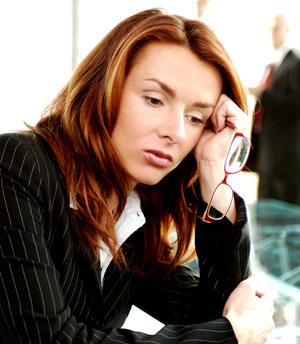 teleurgestelde zakenvrouw